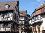 Alsatian architecture old town Colmar