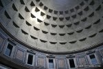 Shining sun Pantheon Rome